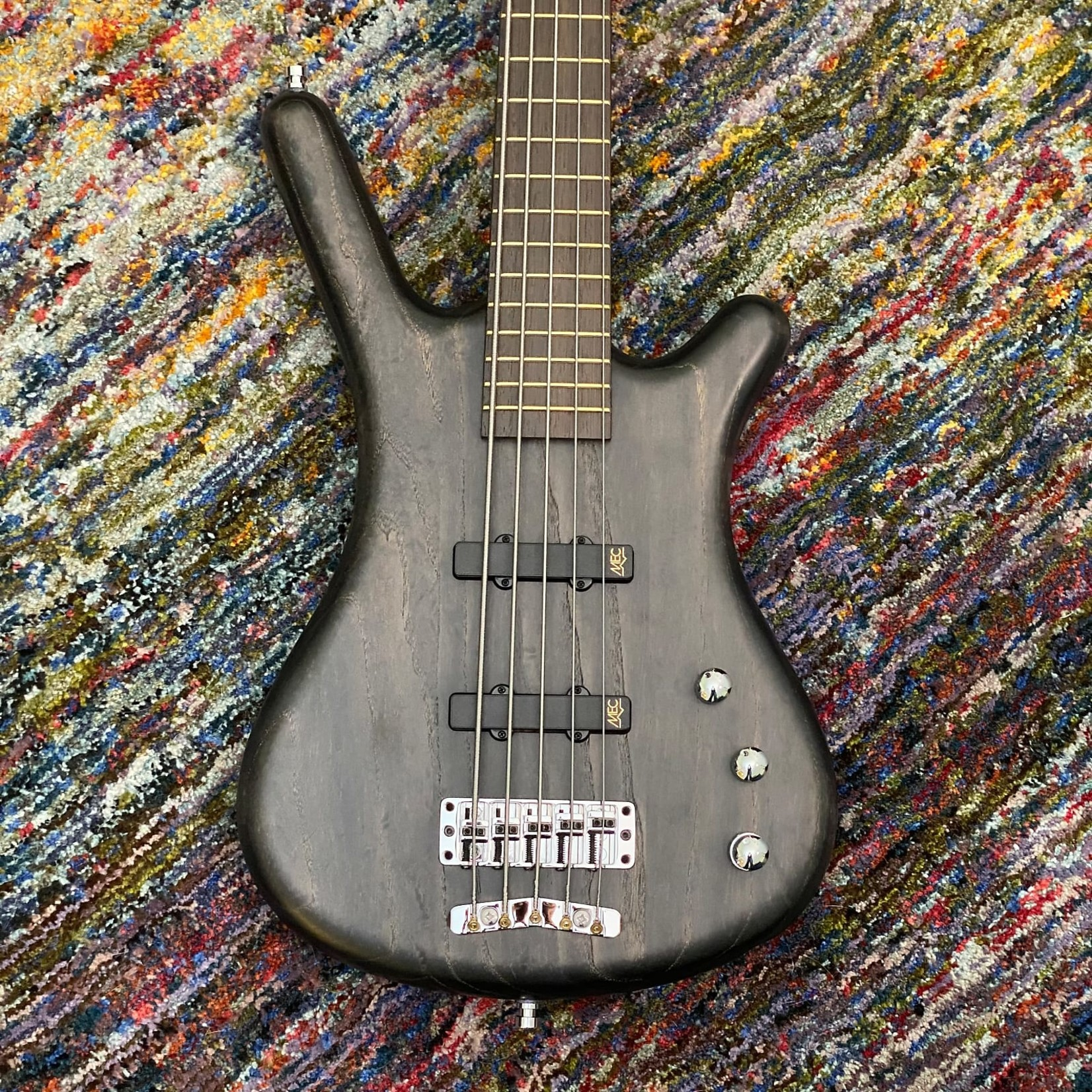 Warwick Warwick Pro Series Corvette Ash-5 String Bass, Active, Nirvana Black Transp. Satin, Germany (2020, Blem)