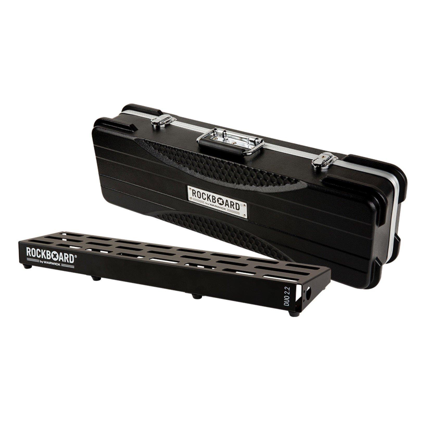 """Rockboard RockBoard DUO 2.2 (5.75"""" x 24"""") - Pedalboard with ABS Case (RBO B 2.2 DUO A)"""
