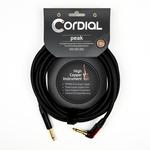 Cordial Cables Cordial 6m /~20ft Premium High-Copper German Inst. Cable, 1/4''-RA Neutrik Silent, CSI 6 RP-SILENT