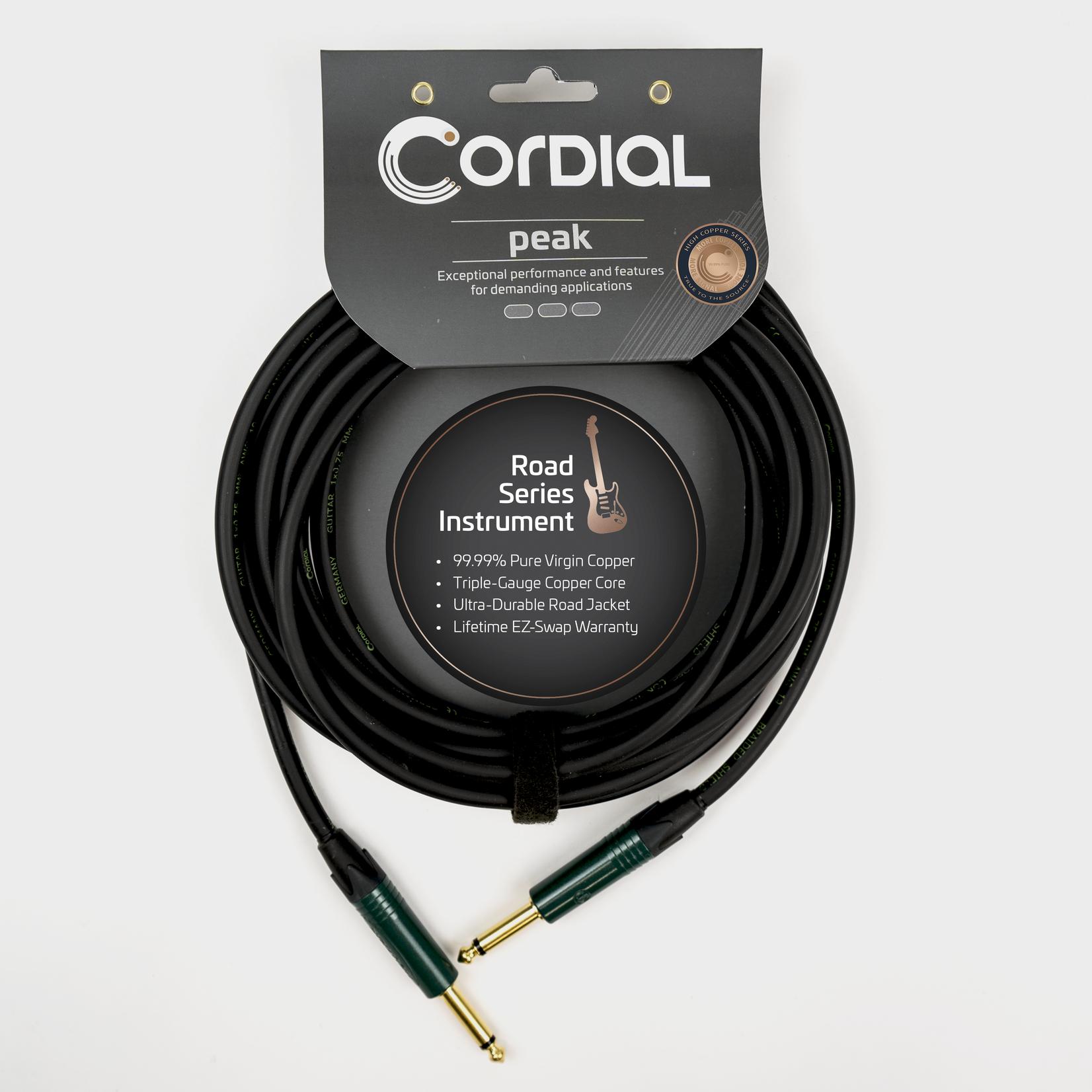 Cordial Cables Cordial Encore Road CRI 3 PP, 3m /~10ft Premium High-Copper German Inst. Cable, 1/4''-1/4'' Neutrik