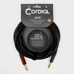 Cordial Cables Cordial 3m /~10ft Premium High-Copper German Inst. Cable, 1/4'' Neutrik Connectors, CRI 3 PP-SILENT
