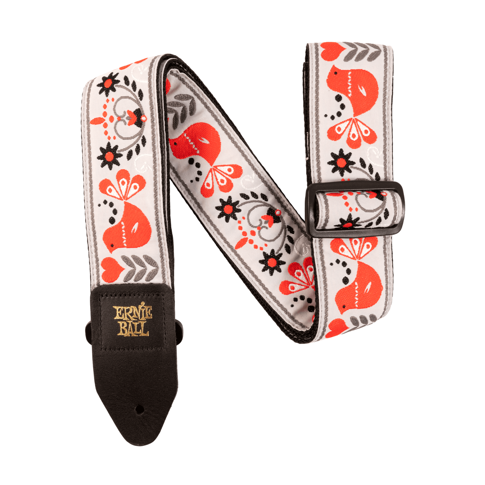 Ernie Ball Ernie Ball Red Bird Winter Jacquard Guitar Strap
