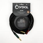 Cordial Cables Cordial 3m /~10ft Premium High-Copper German Inst. Cable, 1/4''-RA Neutrik Conns., CRI 3 RP-SILENT