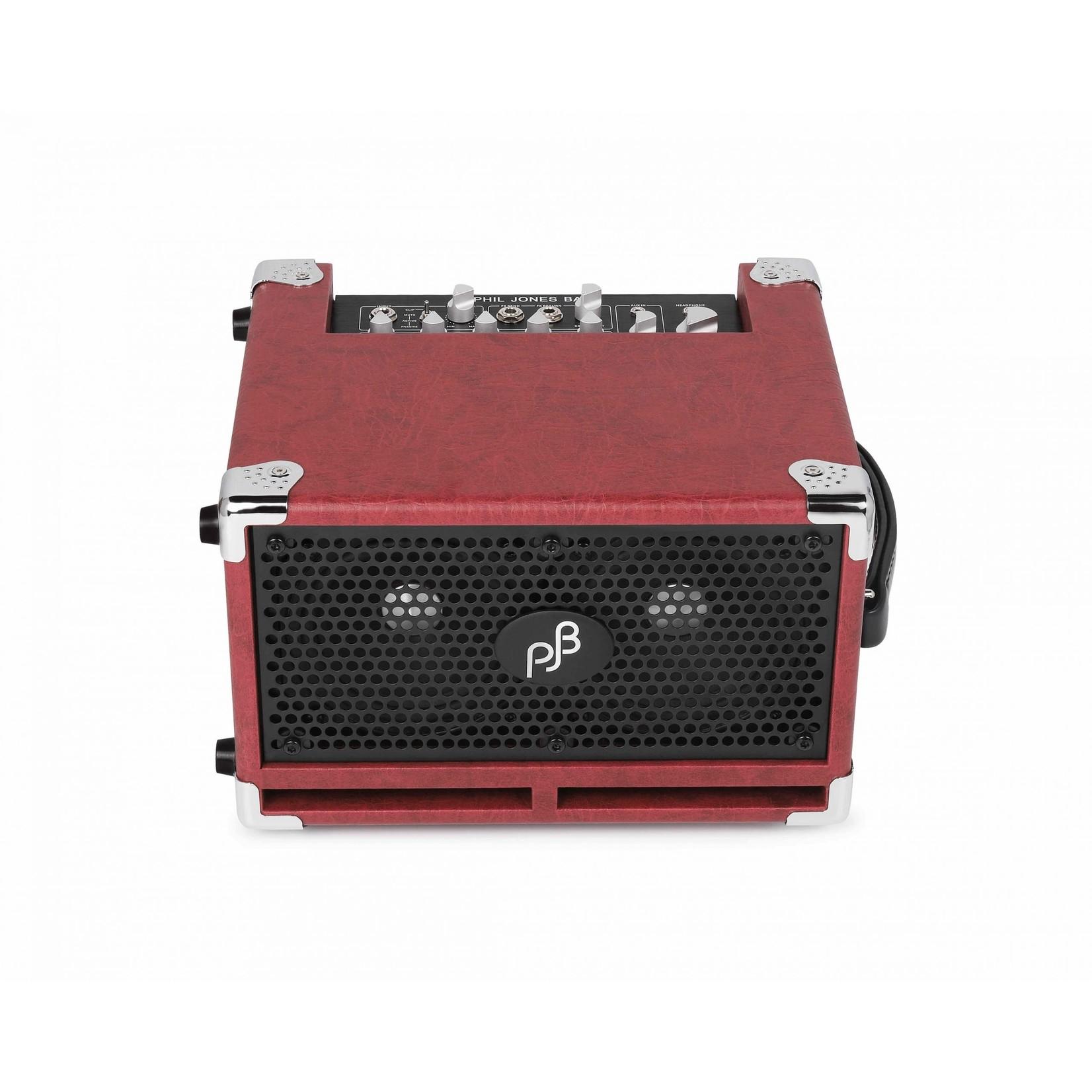 "Phil Jones Phil Jones Bass Cub Pro 120W Micro Combo Amp 2x5"" (BG-120R), Red Cabinet"