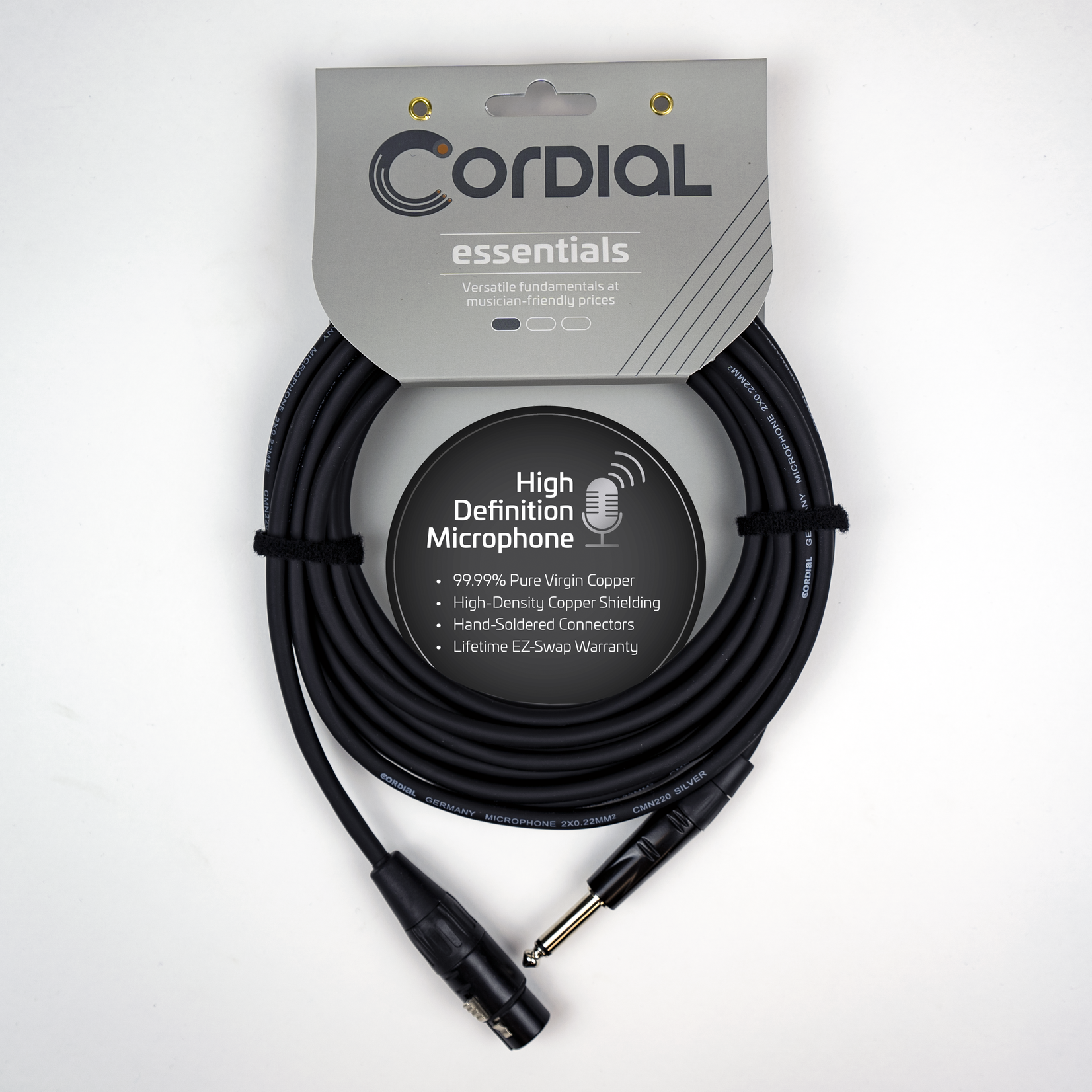 """Cordial Cables Cordial Cables Unbalanced Mic/Line - 1/4"""" Plug to XLRF 16.5 Feet, Essential Series"""