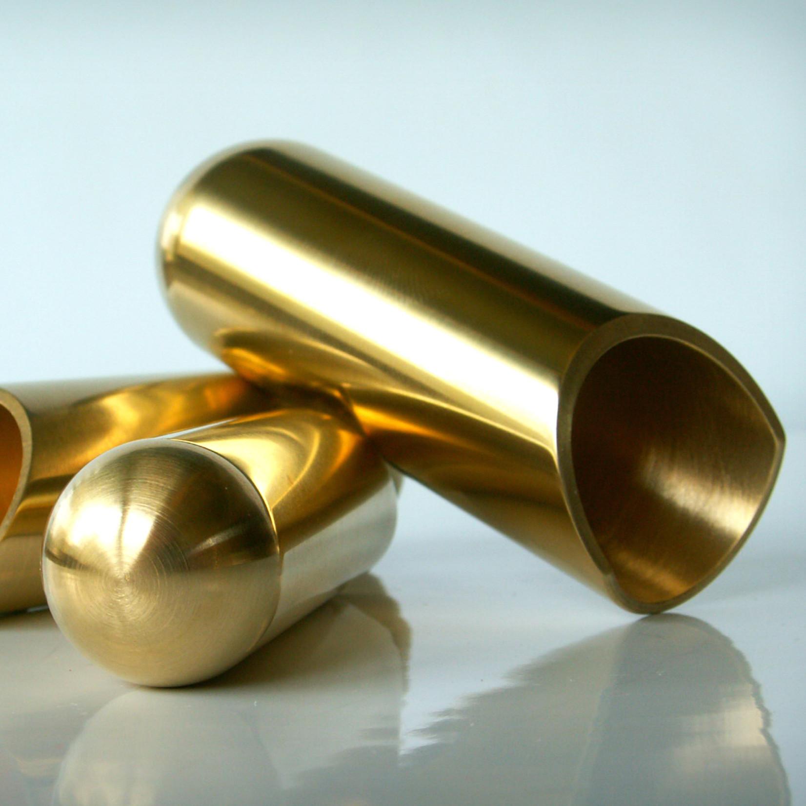 The Rock Slide The Rock Slide-Small Balltip Guitar Slide, Polished Brass, BTRS-SB - 17.5mm x 57mm, Ring Size 6-8