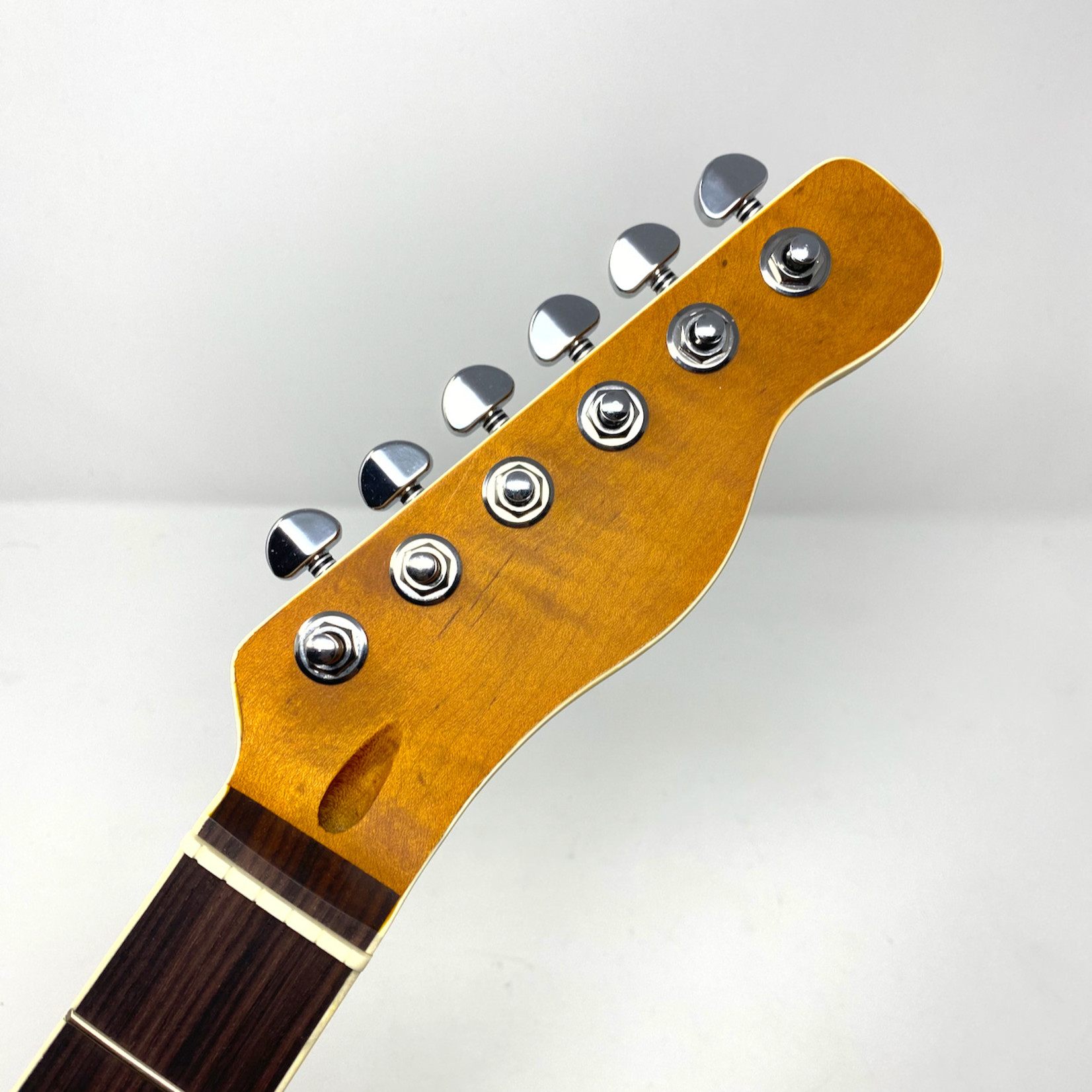 Belltone Tele-Style Roasted Flame Maple Neck with Rosewood Fingerboard, Cream Binding, Belltone Lockers™ Locking Tuners