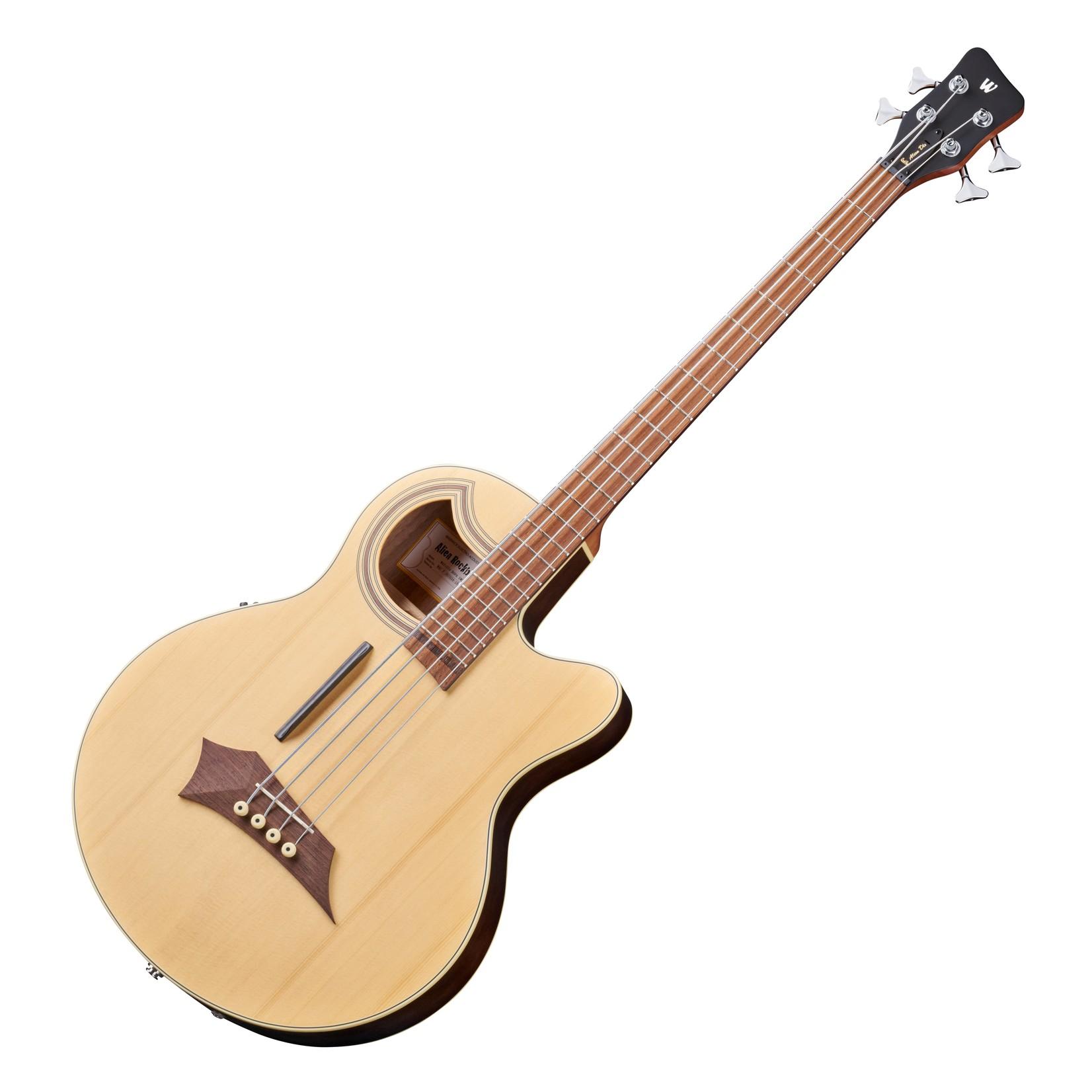 Warwick Warwick Rockbass Alien Deluxe Hybrid Thinline 4-String Acoustic Bass Guitar