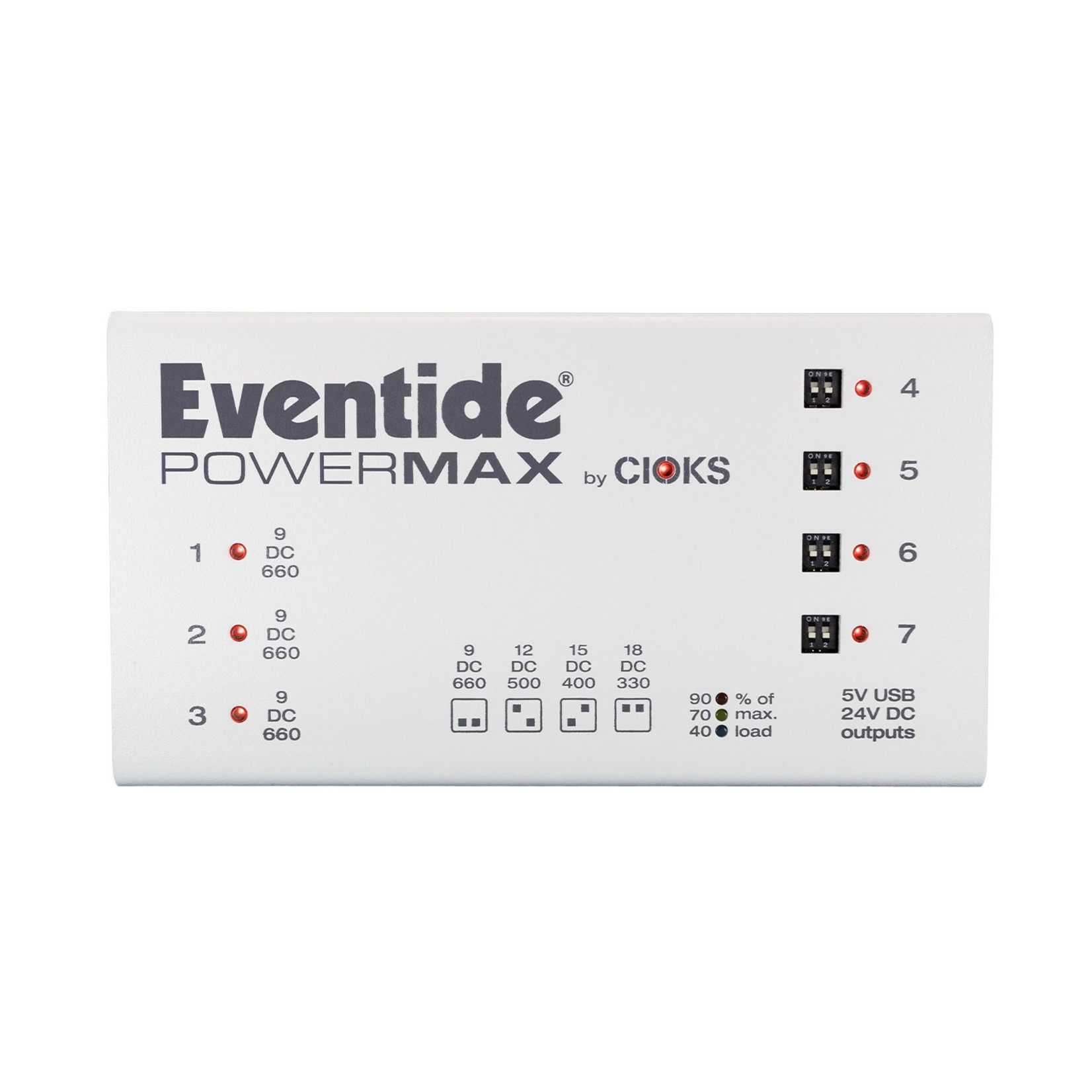 Eventide Eventide PowerMAX mk2 Power Supply for Effects Pedals (7 variable outlets + USB)