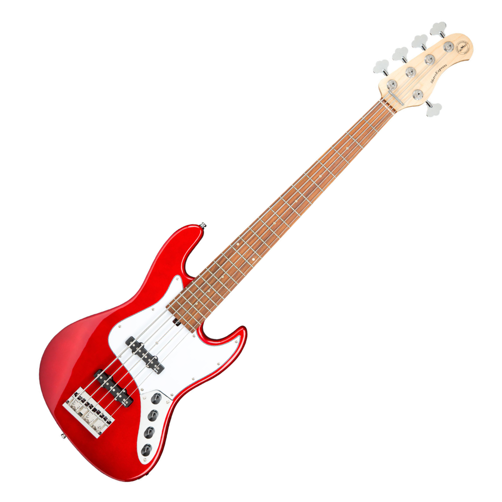 Sadowsky Sadowsky (RSD) MetroExpress 21-Fret J/J 5-String Bass , Candy Red Apple Metallic High Polish, Morado Fingerboard