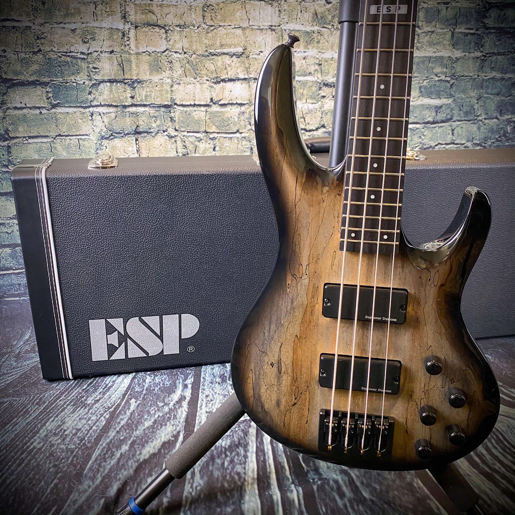 ESP ESP E-II BTL-4 Black Natural Burst 4-String Bass with ESP Form-Fit Hardshell Case