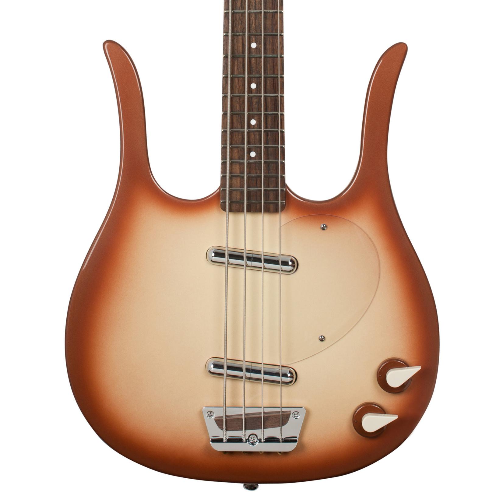 Danelectro Danelectro Longhorn Bass, Copperburst, with Free Gigbag!