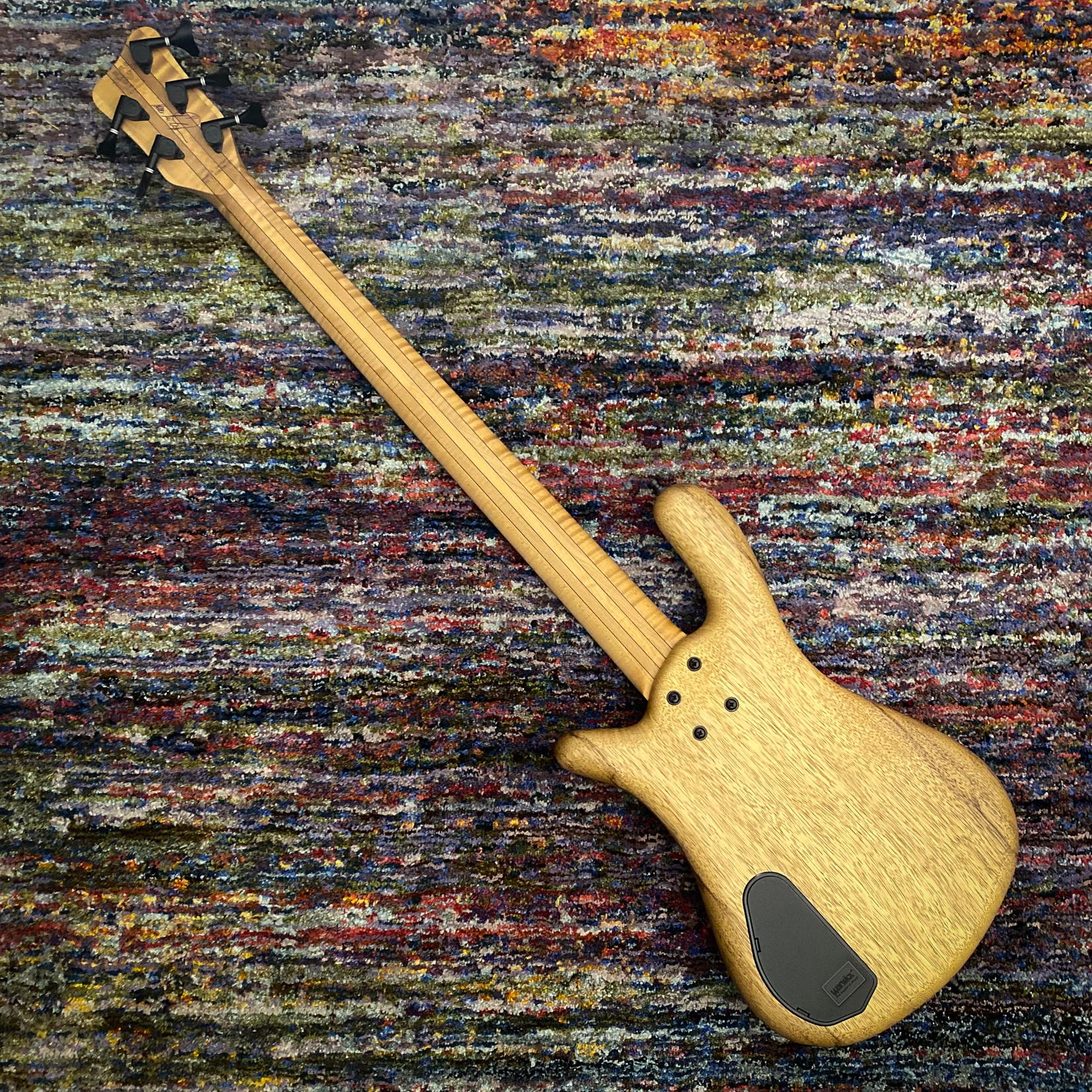 Warwick Warwick TeamBuilt Pro Series Streamer LX Limited Edition 2021, 5-String Bass, Black Korina, #38/100