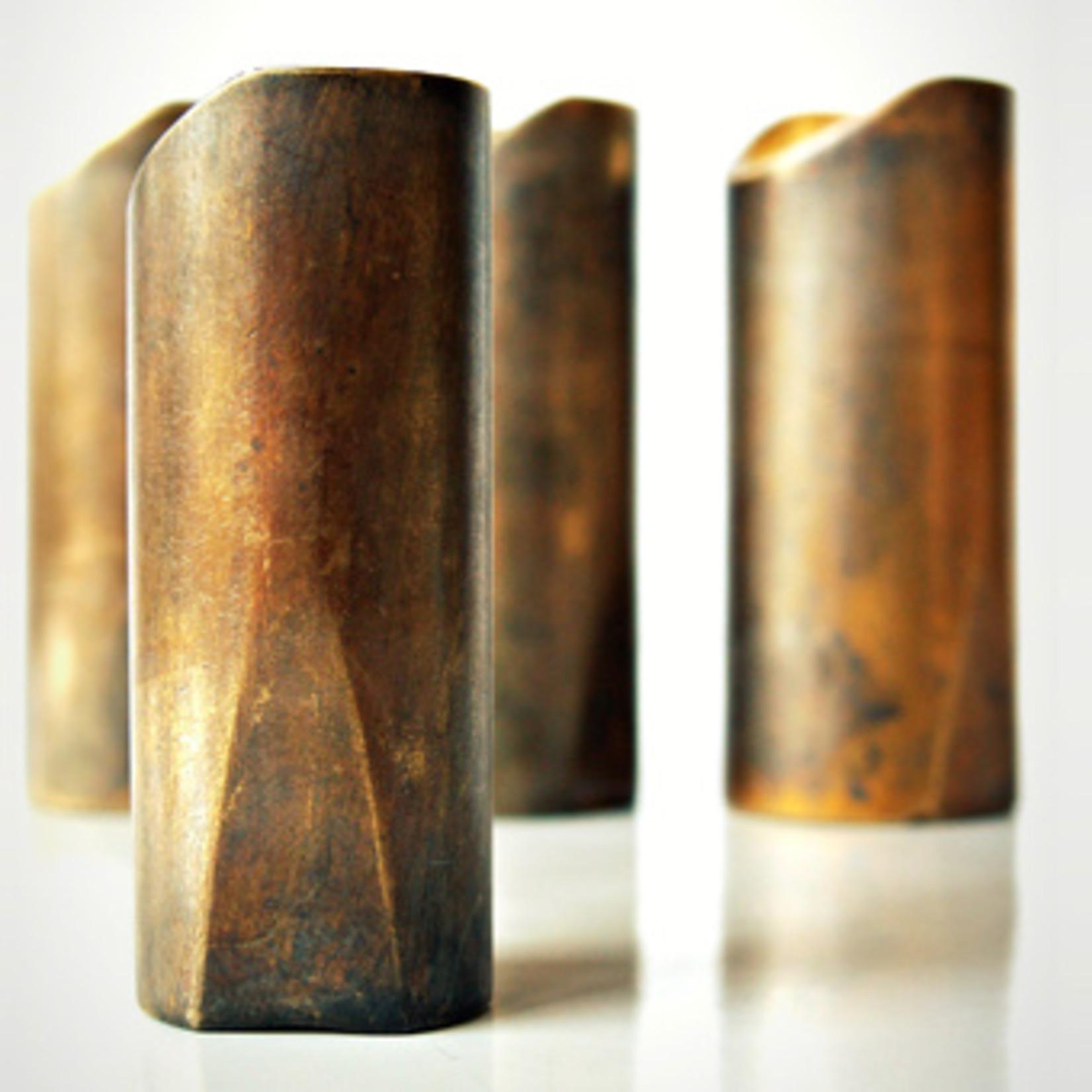 """The Rock Slide The Rock Slide Aged Brass """"Swamp Slide"""" Guitar Slide - Large, 21.5mm x 59mm - Ring size 10-12"""
