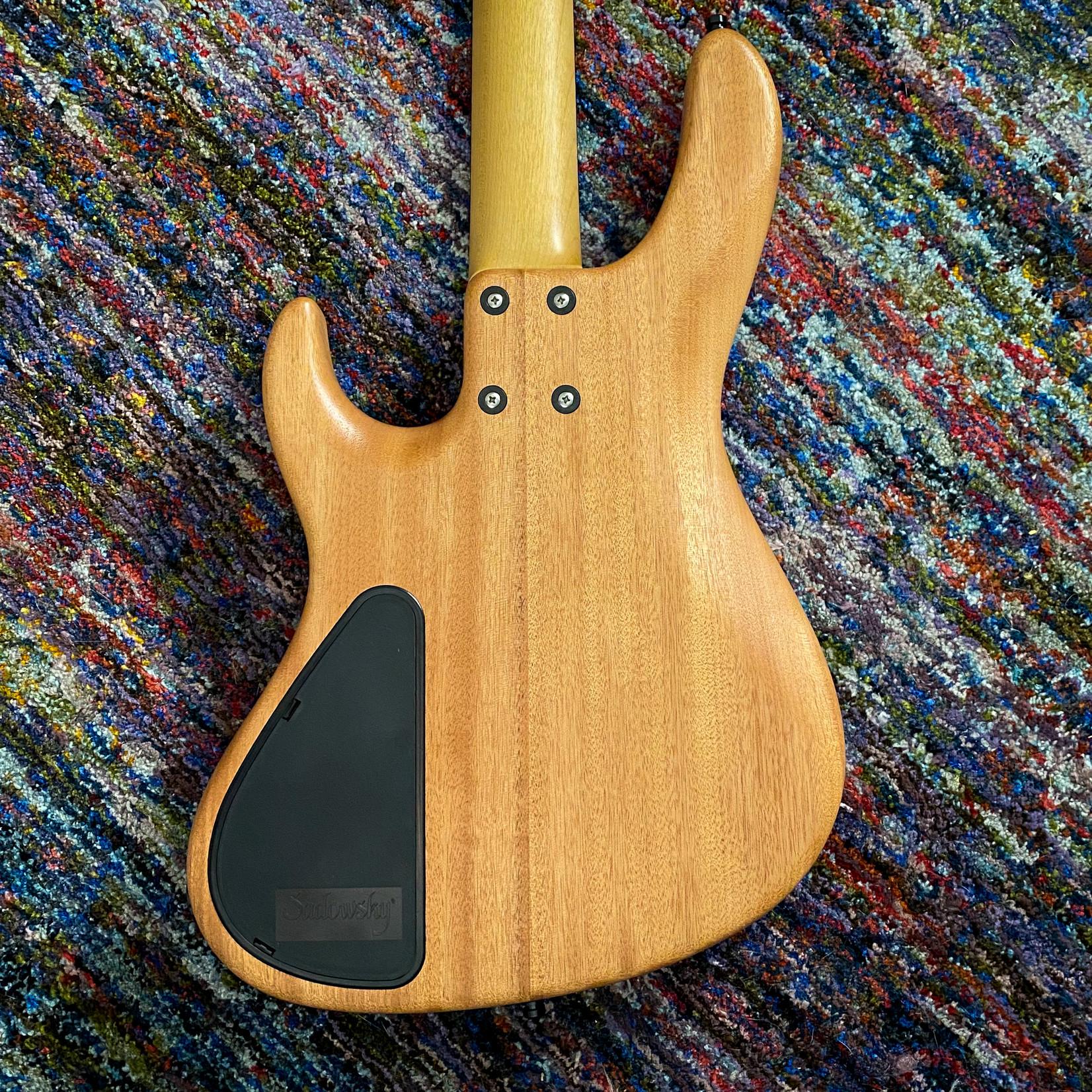 Sadowsky Sadowsky MetroLine 2021 LTD 4 String, 24-Fret Modern Bass, Natural Transparent Satin