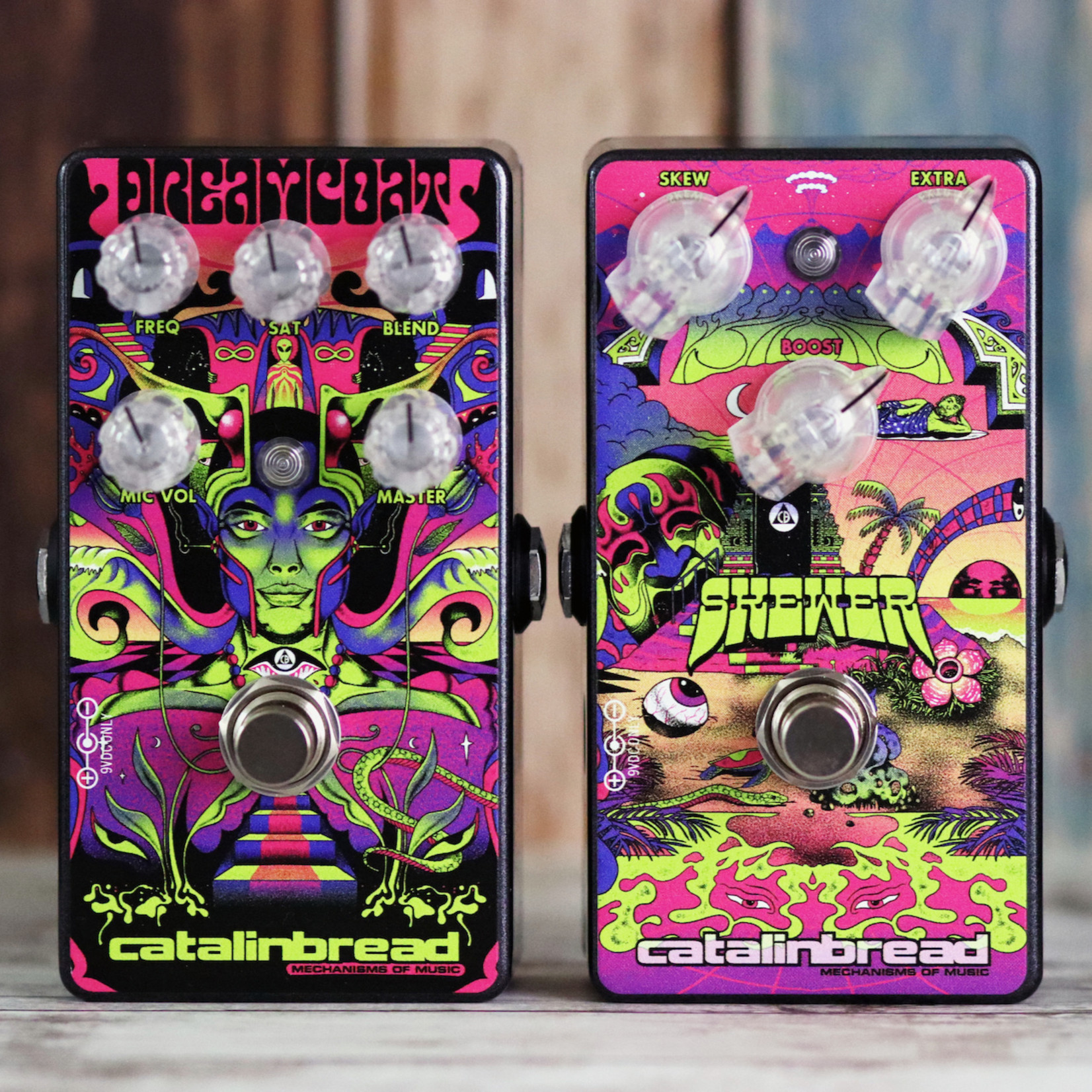 Catalinbread Catalinbread Dreamcoat/Skewer Special Edition Box, Ritchie Blackmore Inspired Pedals (pre-amp/overdrive + treble boost)