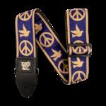 Ernie Ball Ernie Ball Peace Love Dove Beige/Navy Blue Jacquard Strap