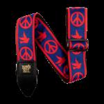 Ernie Ball Ernie Ball Red and Blue Peace Love Dove Jacquard Strap