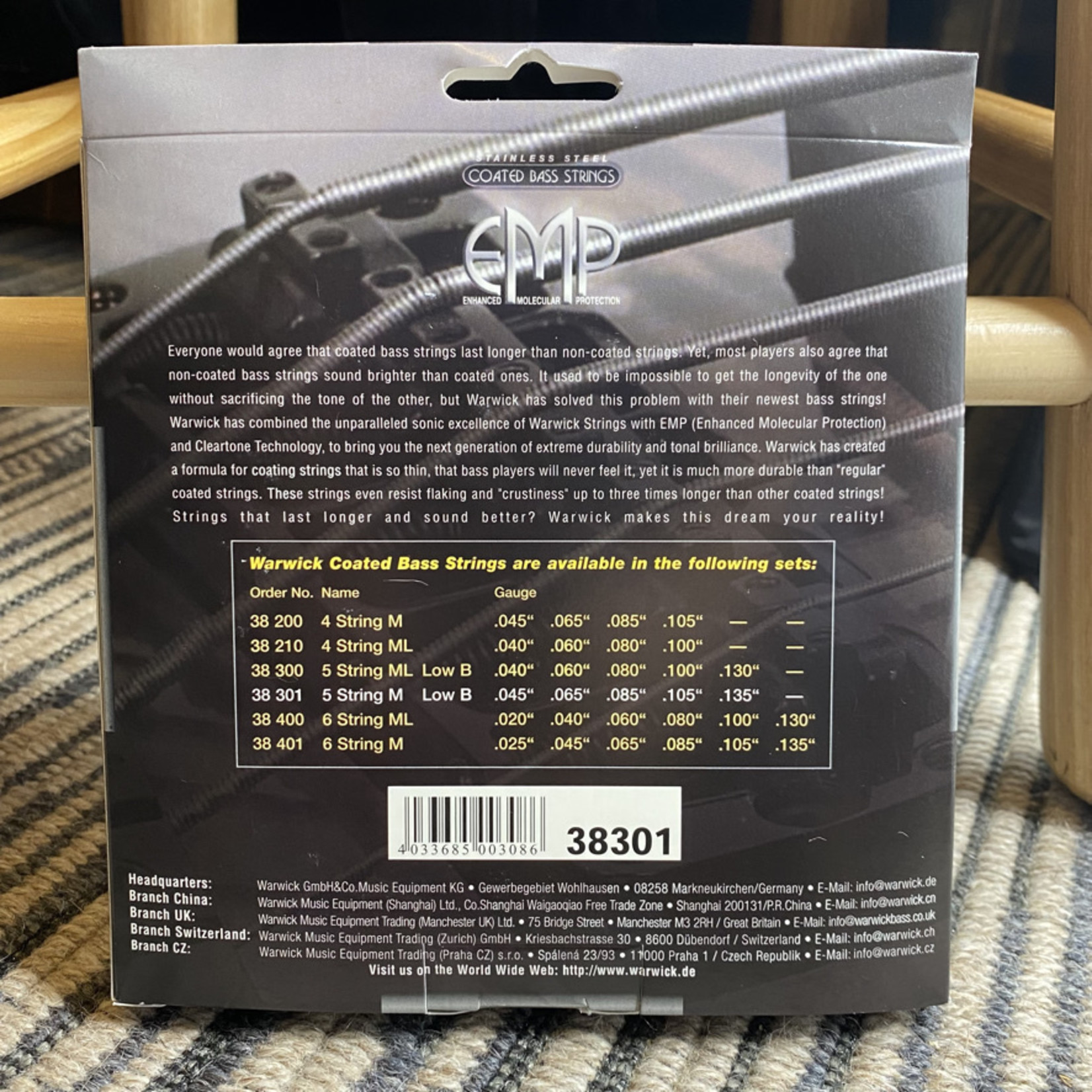 Warwick Warwick EMP Stainless Steel Coated - Bass String Set, 5-String, Medium, .045-.135 (38301 M 5B 045/135)