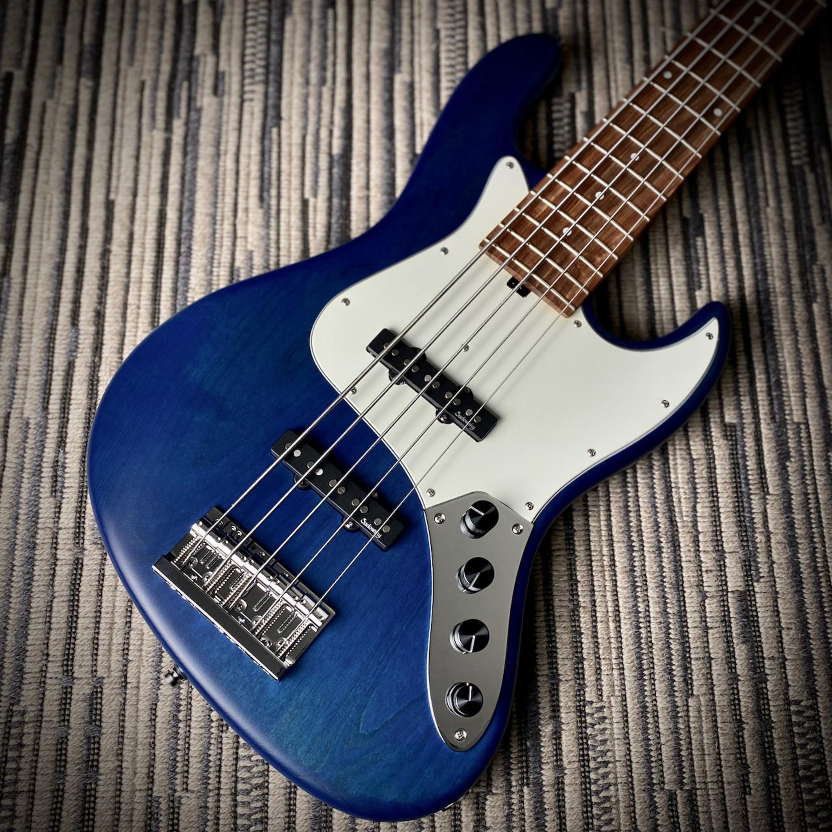 Sadowsky Sadowsky MetroLine 21-Fret Vintage J/J 5-String Bass - Blue Transparent Satin on Red Alder Body