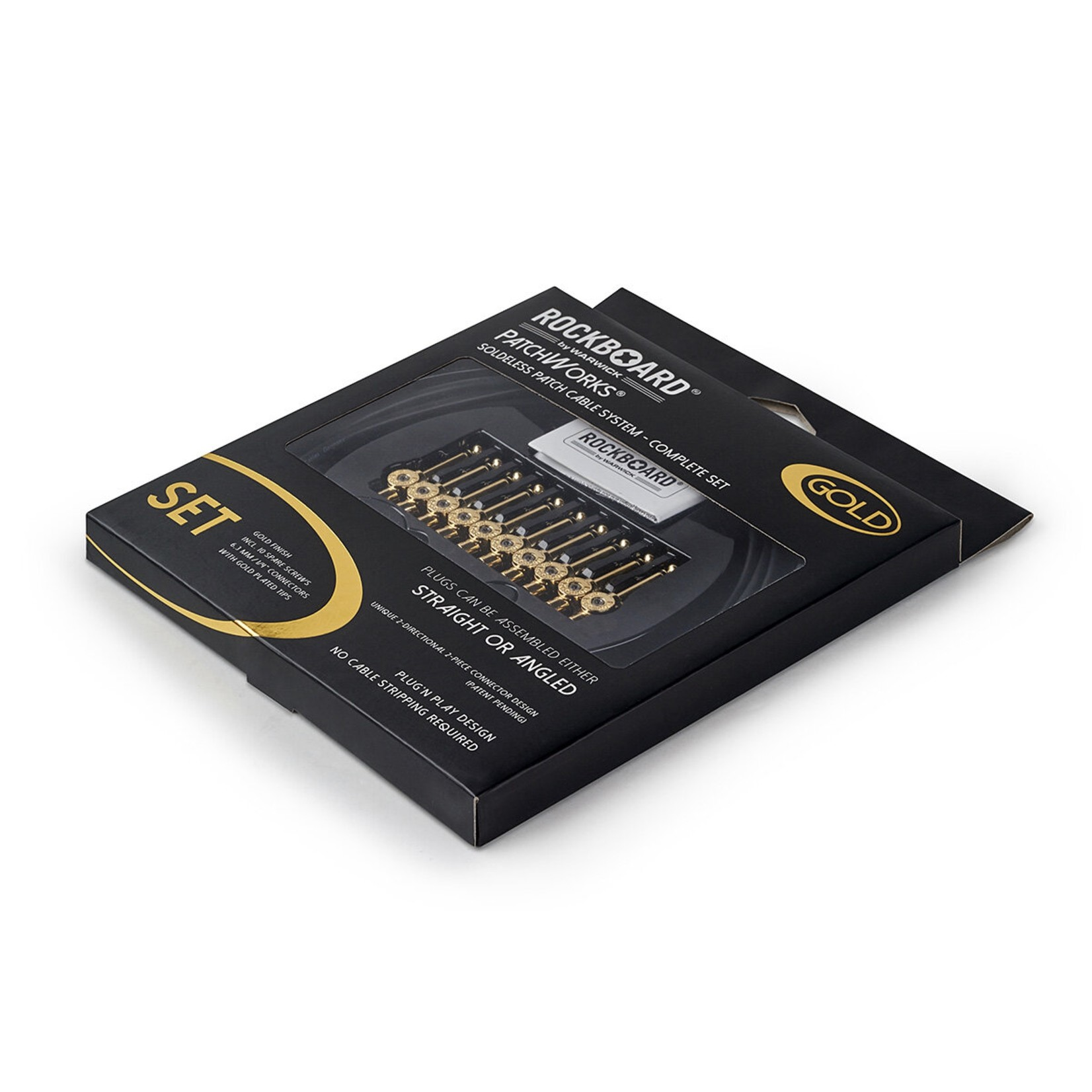 Rockboard RockBoard PatchWorks Solderless Patch Cable Set - 3 m / 9.8 ft. Cable   10 Plugs - Gold