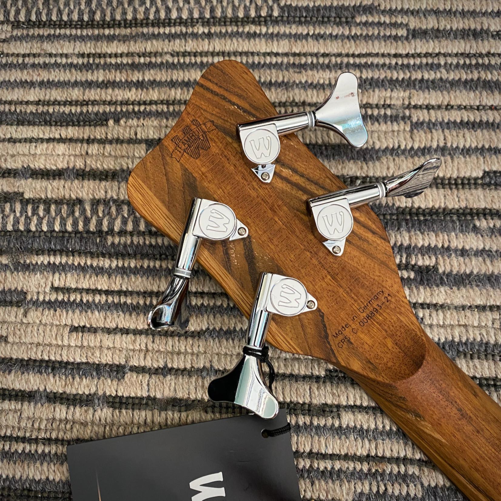 Warwick Warwick German Pro Series Corvette $$ 4-String Fretless Bass, Nirvana Black Trans Satin (2021)