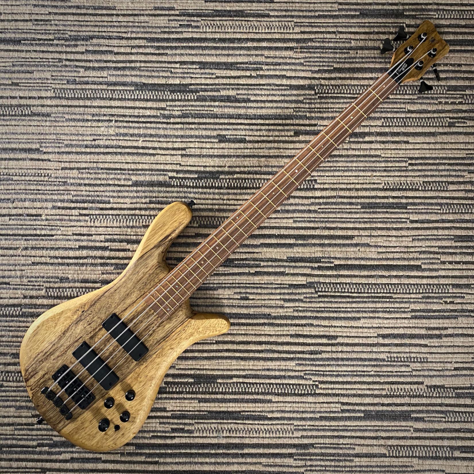 Warwick Warwick TeamBuilt Pro Series Streamer LX Limited Edition 2021, 4-String Bass, Black Korina, #32/100