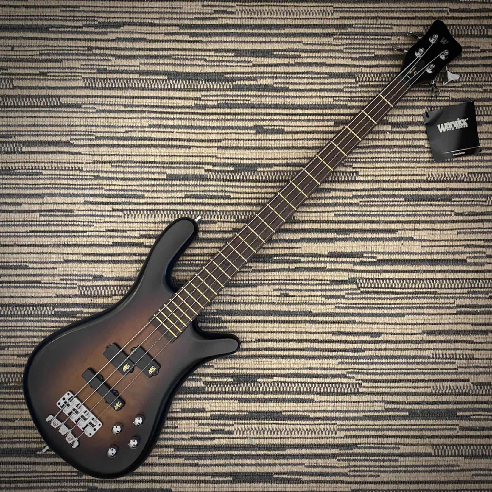 Warwick Warwick Teambuilt Pro Series Streamer LX, 4-String Bass, Active - Vintage Sunburst Trans Satin (2021)