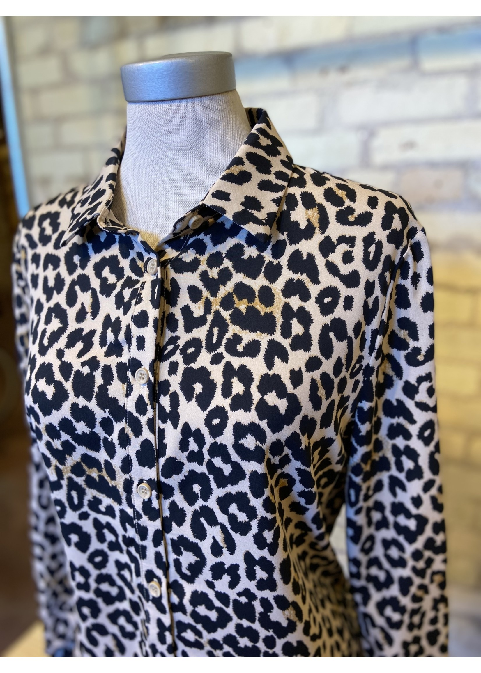 Doe & Rae Animal Print Button Down