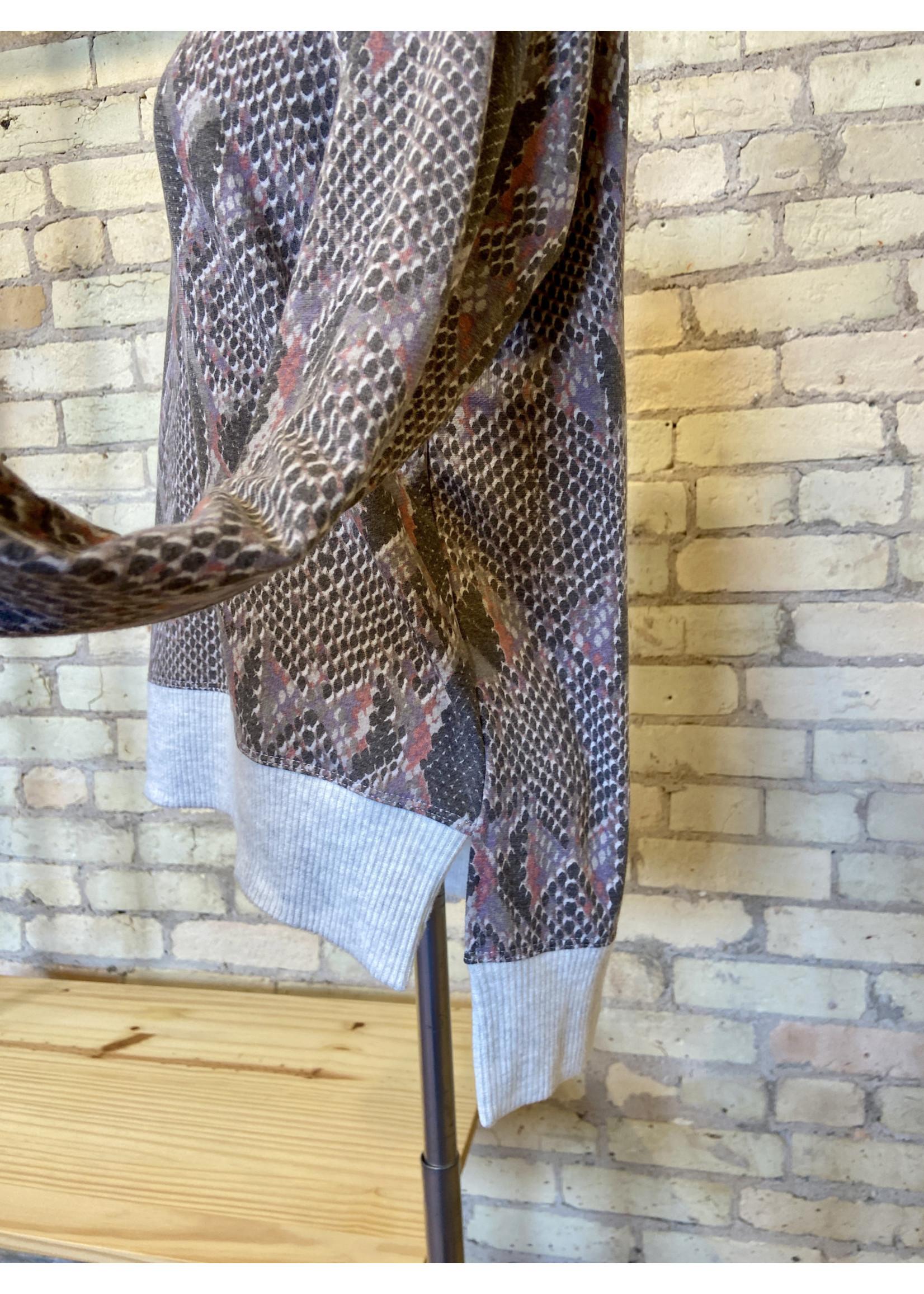 Maple Sage Snake Print Sweatshirt