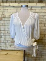 Lush Crochet Wrap Top White