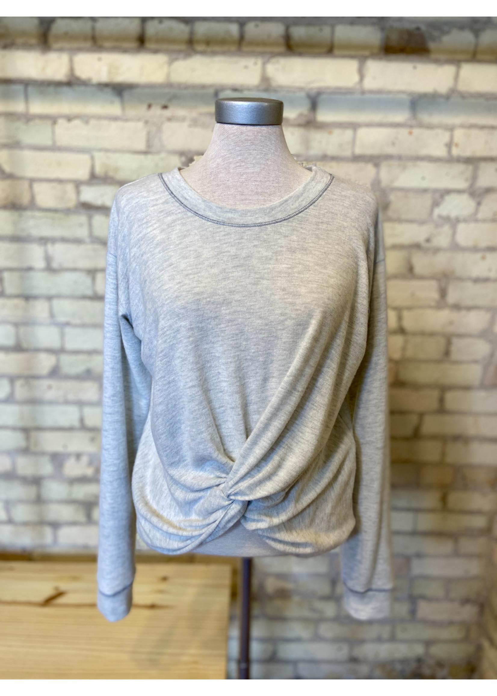Maple Sage Twist Front Sweater