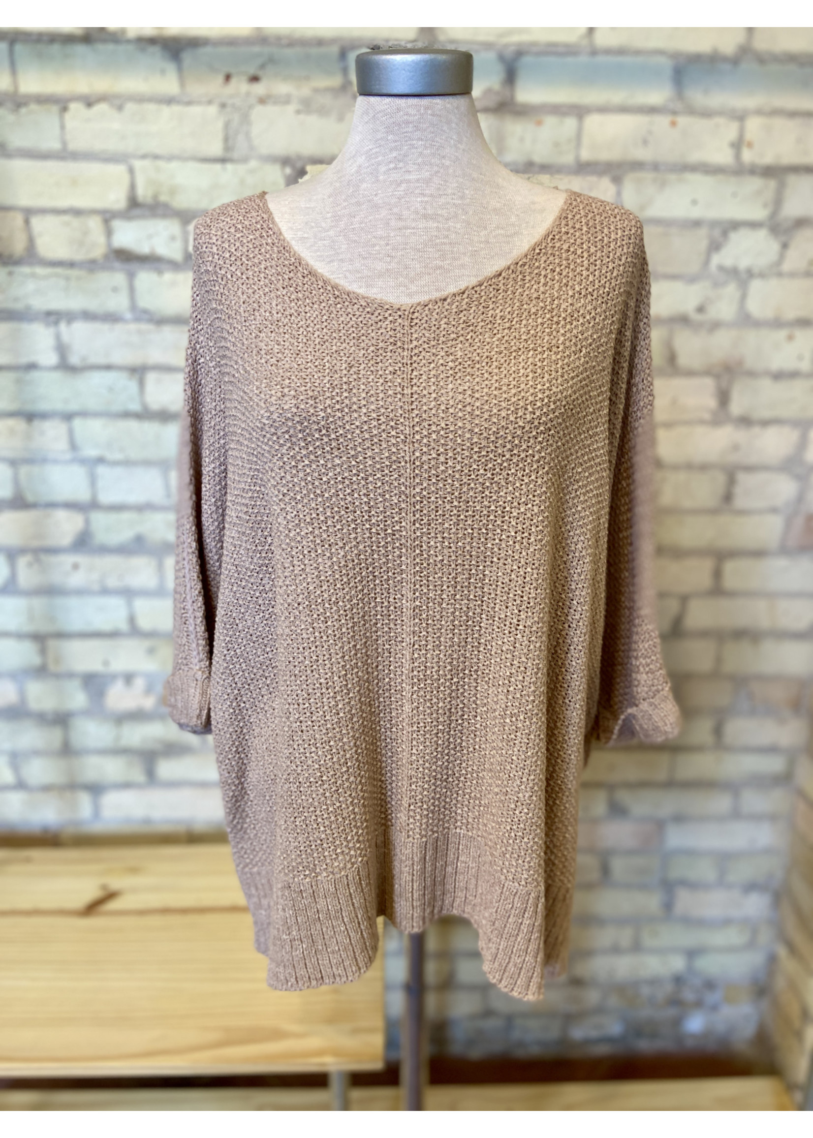 Easel Lightweight Loose Knit Sweater