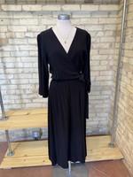 Grade & Gather Tencel Black Dress w/Belt