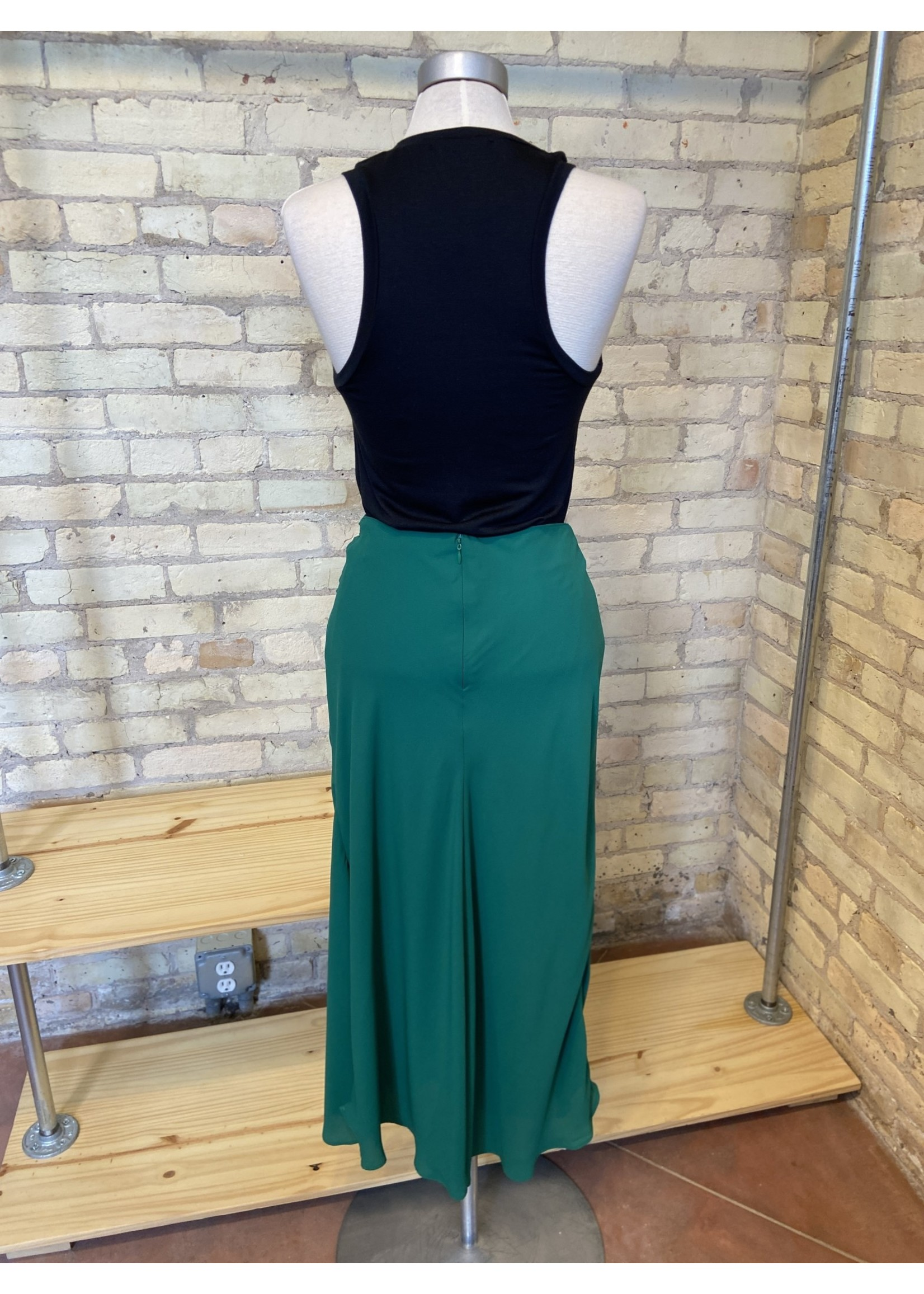 Lush Knot Midi Skirt Pine