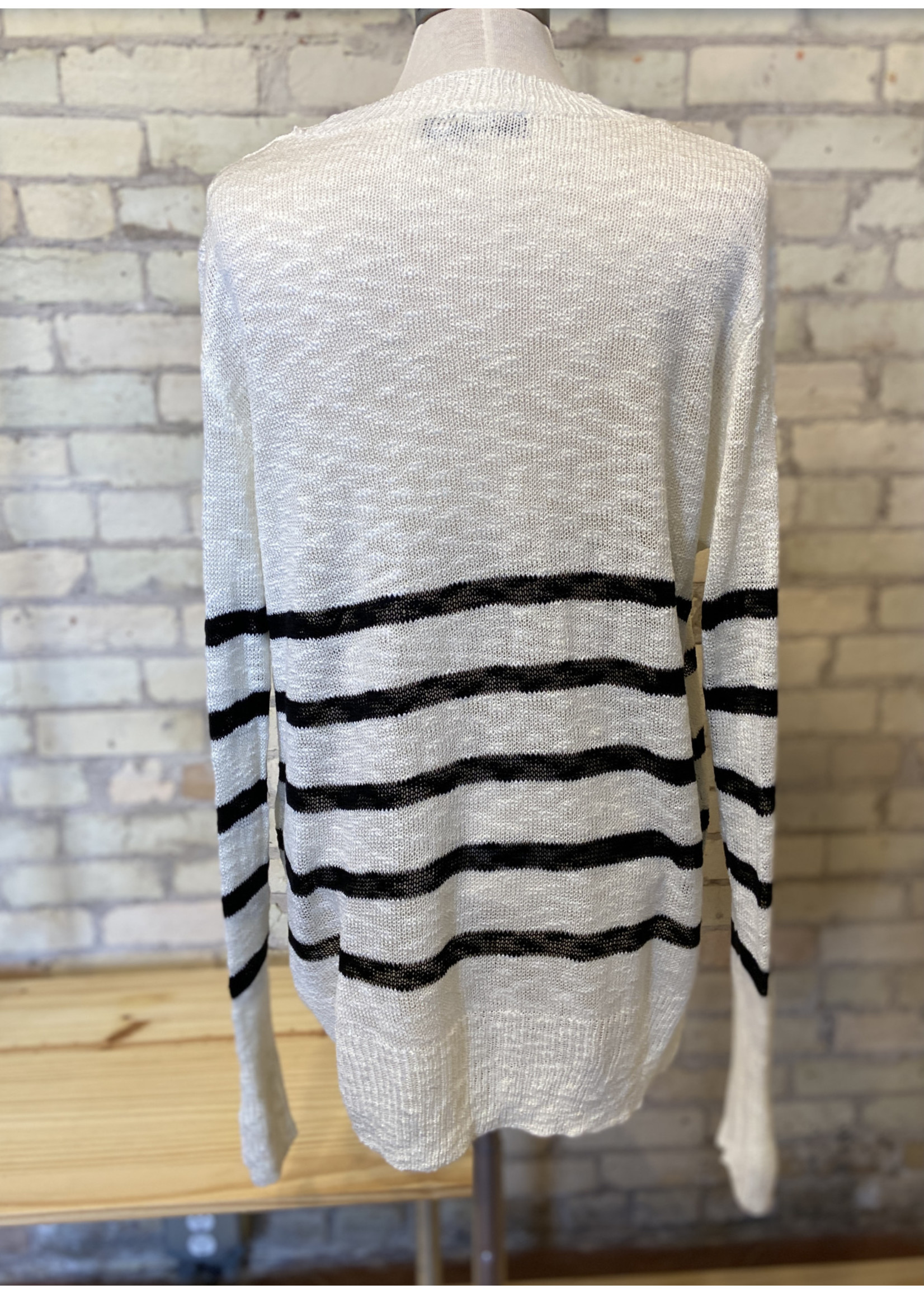 Doe & Rae Striped Spring Sweater