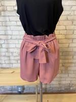 Bluivy Paper Bag Shorts w/Tie Belt