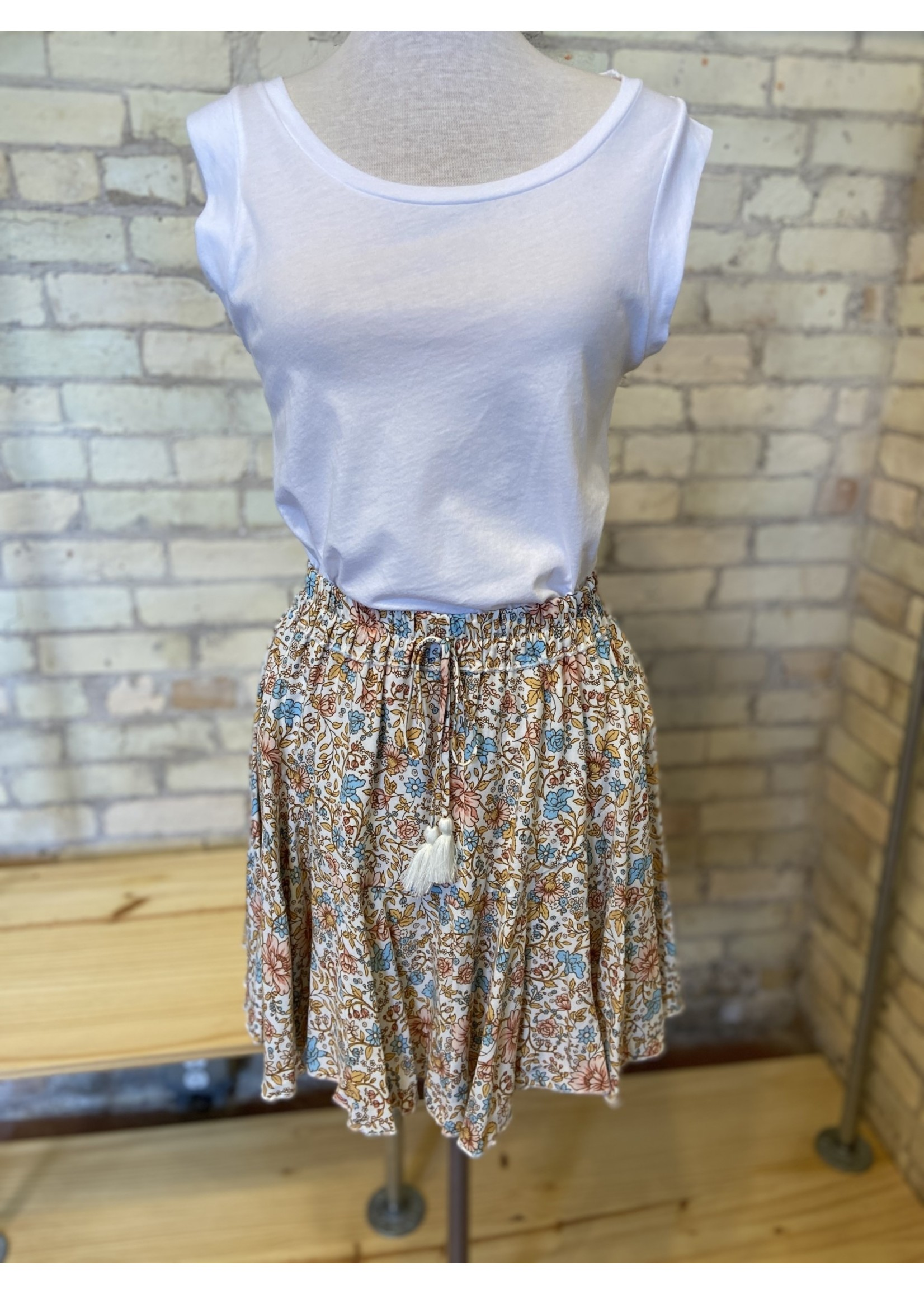 Aakaa Tie Front Mini Skirt
