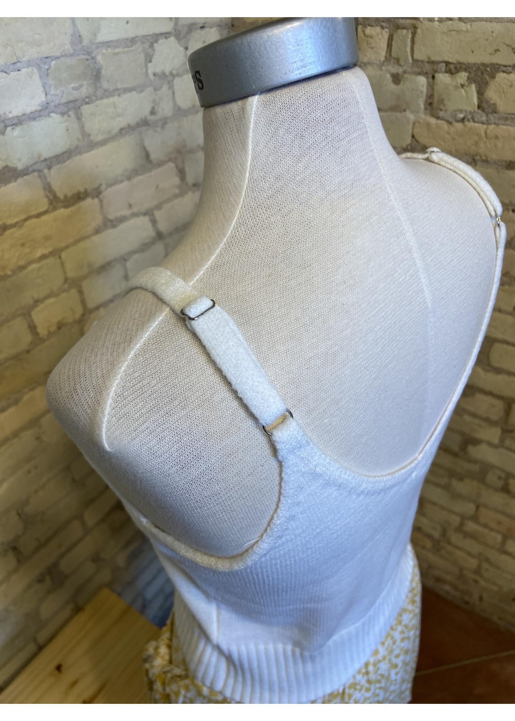 Hem & Thread Cable Knit Sweater Tank