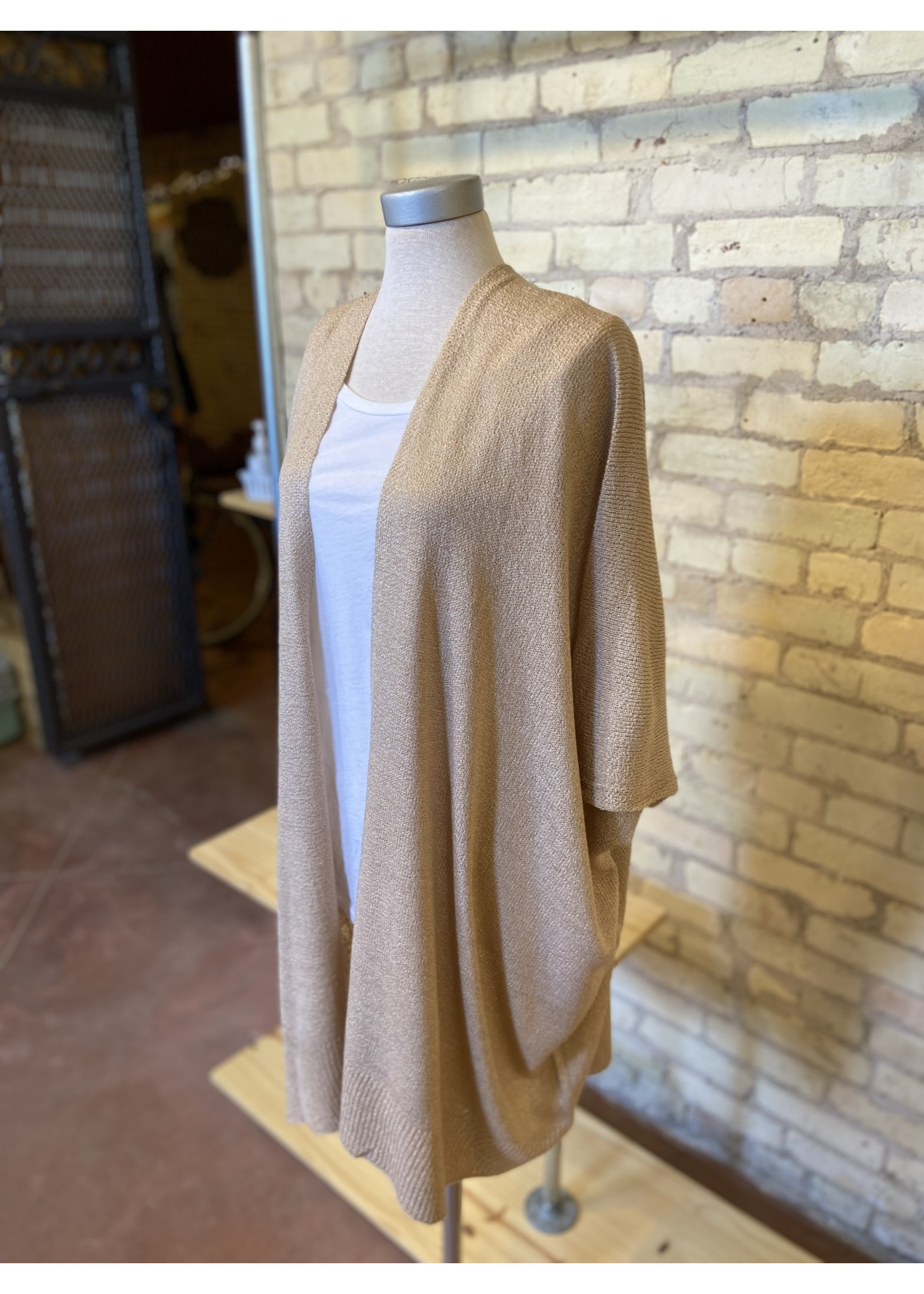 Bluivy Wide Sleeve Open Front Cardigan