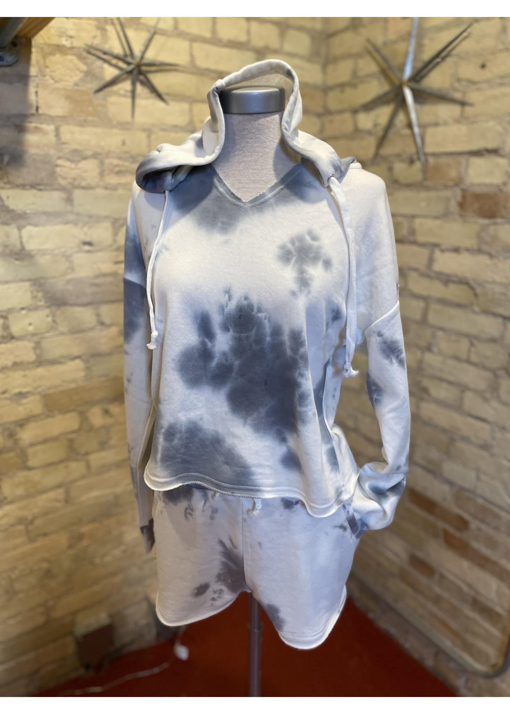 Paper Crane French Terry Hooded Tie Dye Sweatshirt