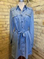 Hem & Thread Belted Tencel Dress