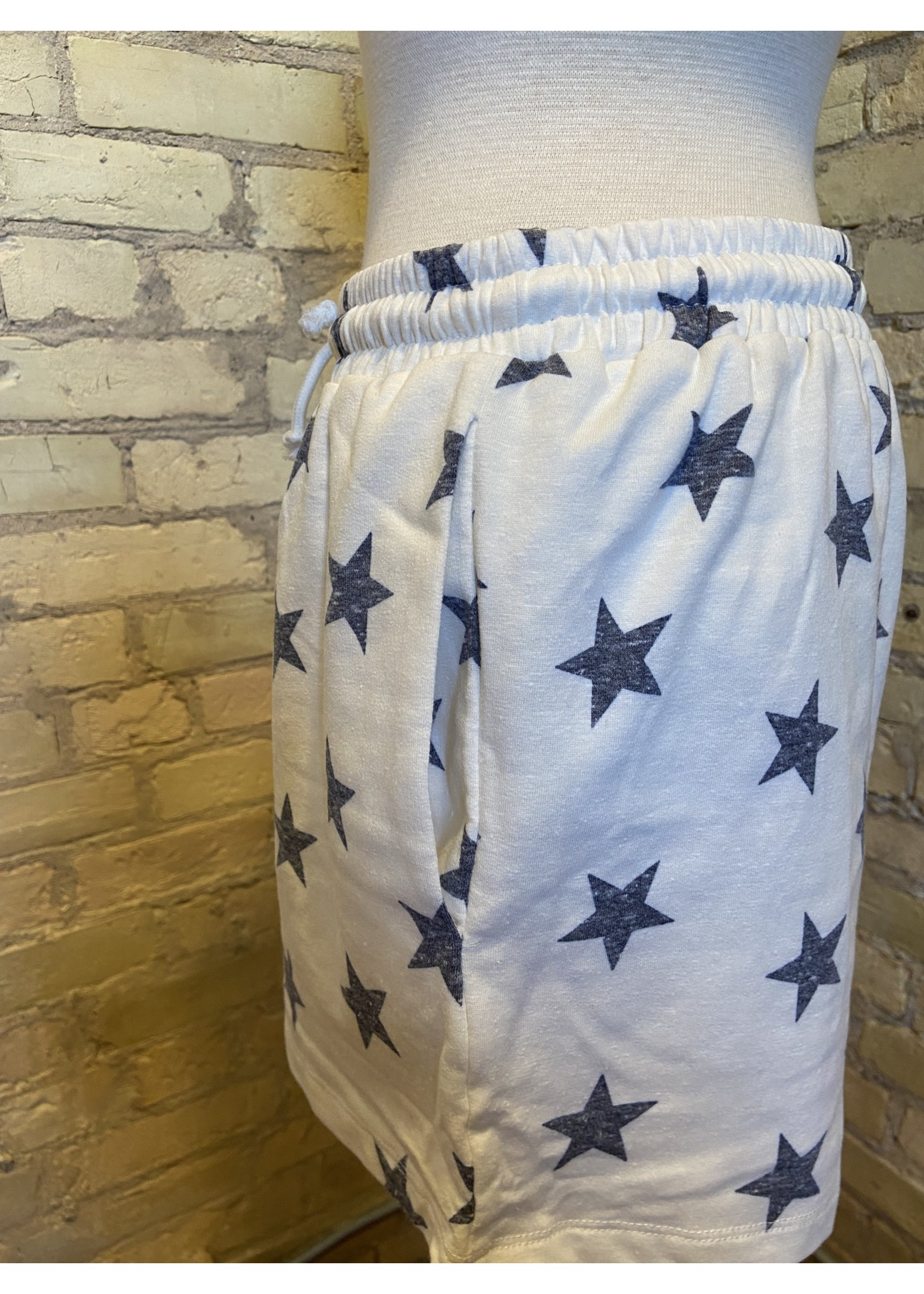 Hem & Thread Star Print Sweatshort