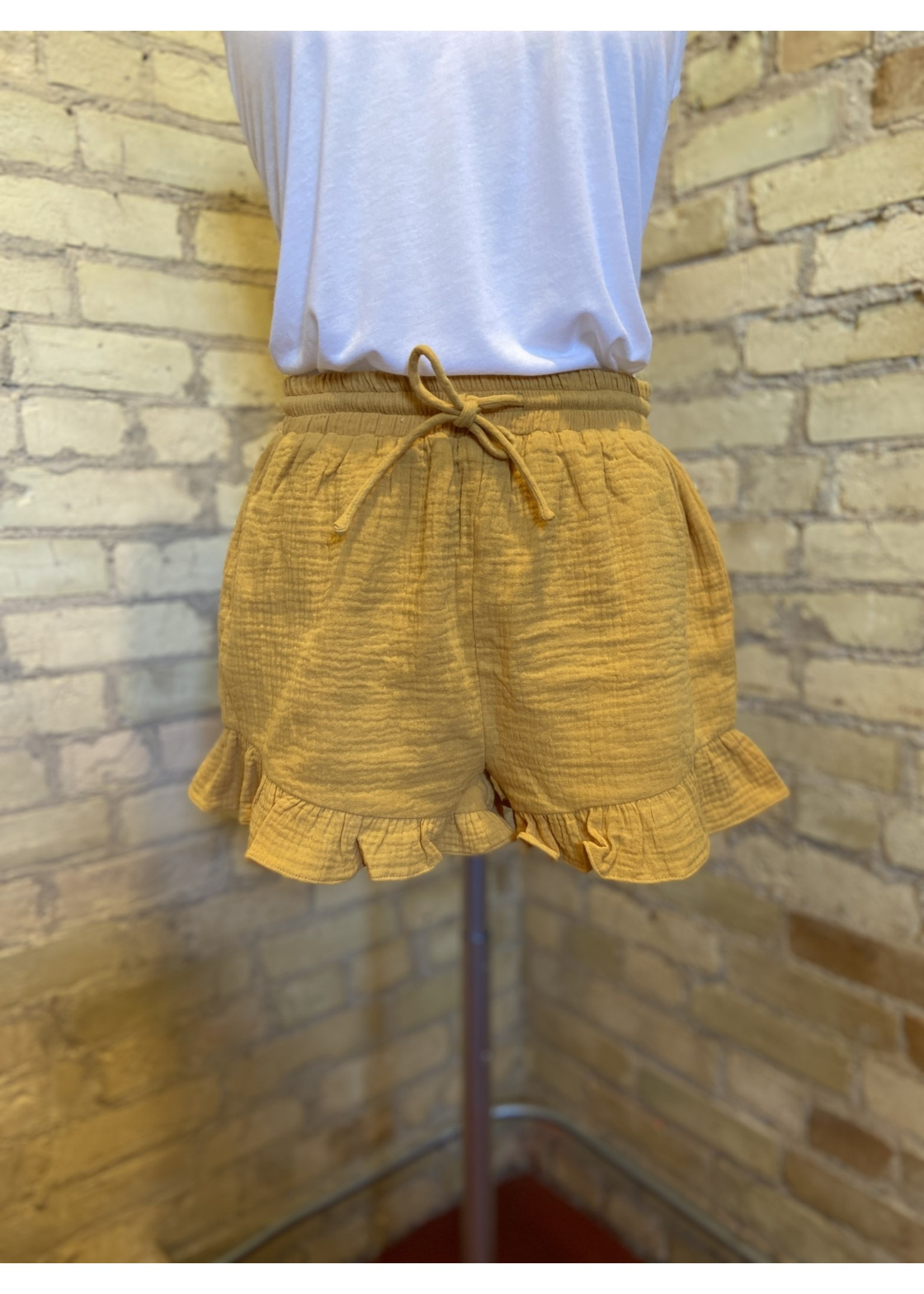 Loveriche High Waisted Tie Front Shorts