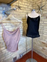 Grade & Gather Cowl Neck Satin Cami