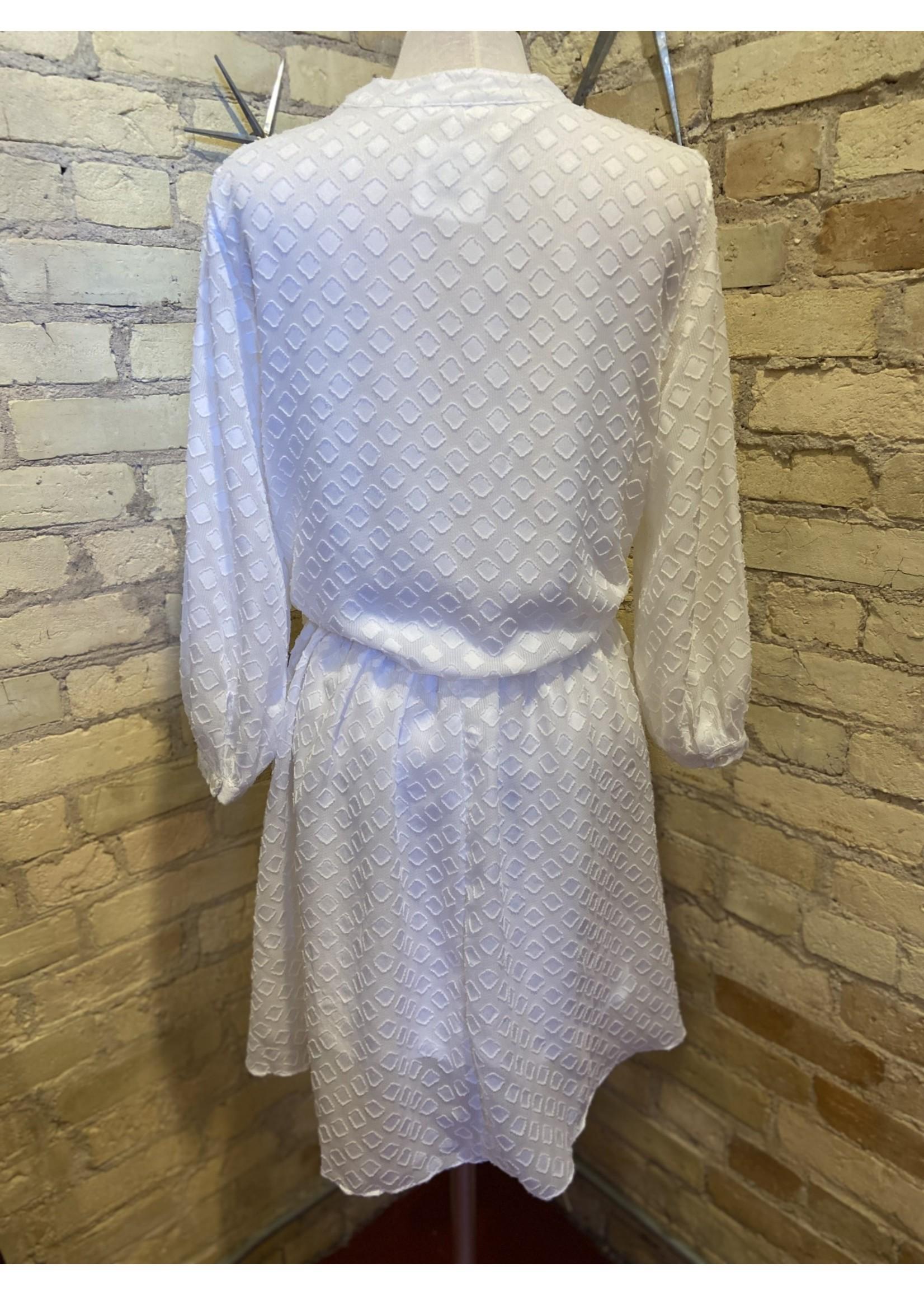 Ces Femme Chiffon Jacquard Dress