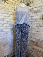 Easel Leopard Print Skinny Pants