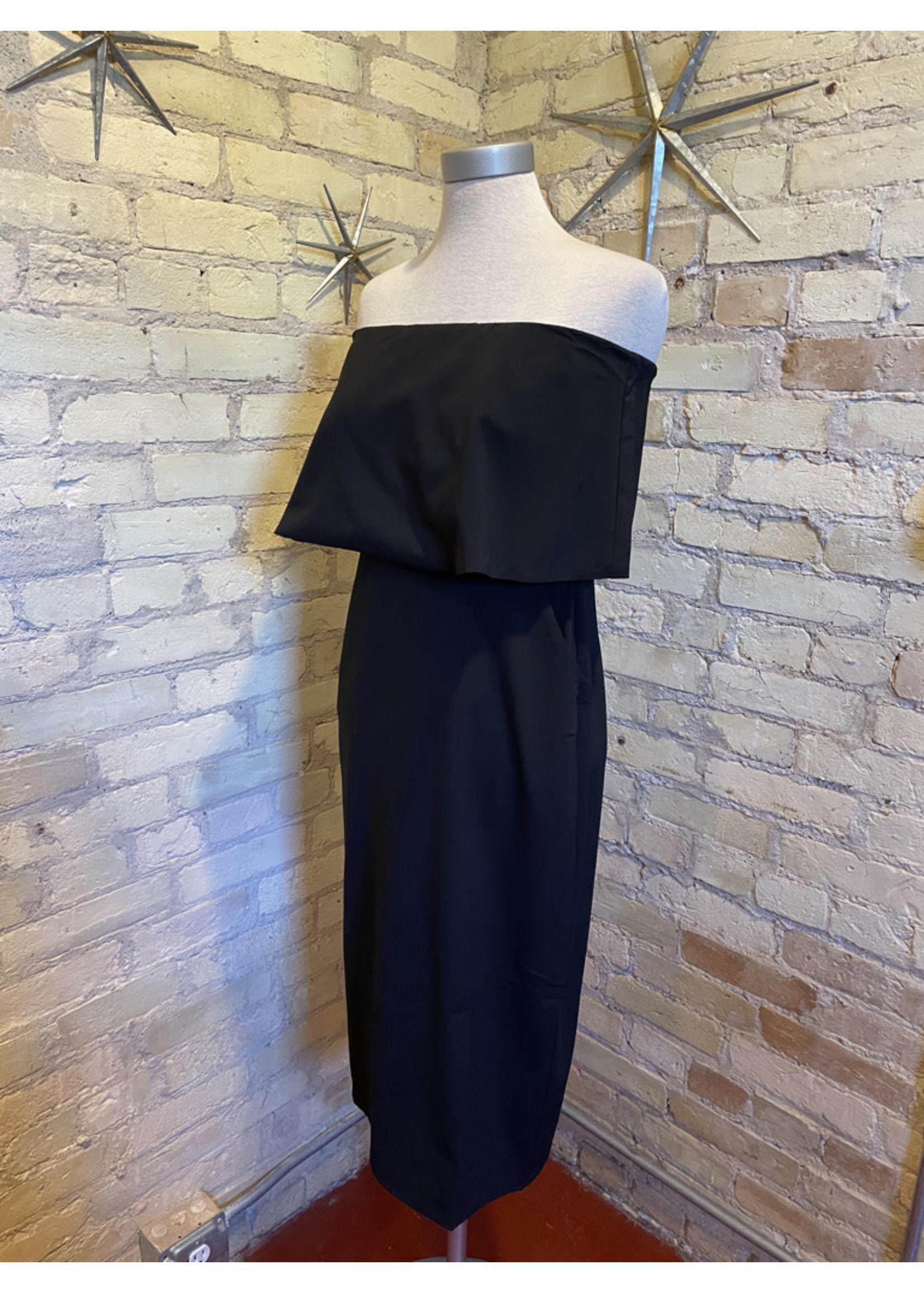 Aakaa Strapless Midi Dress