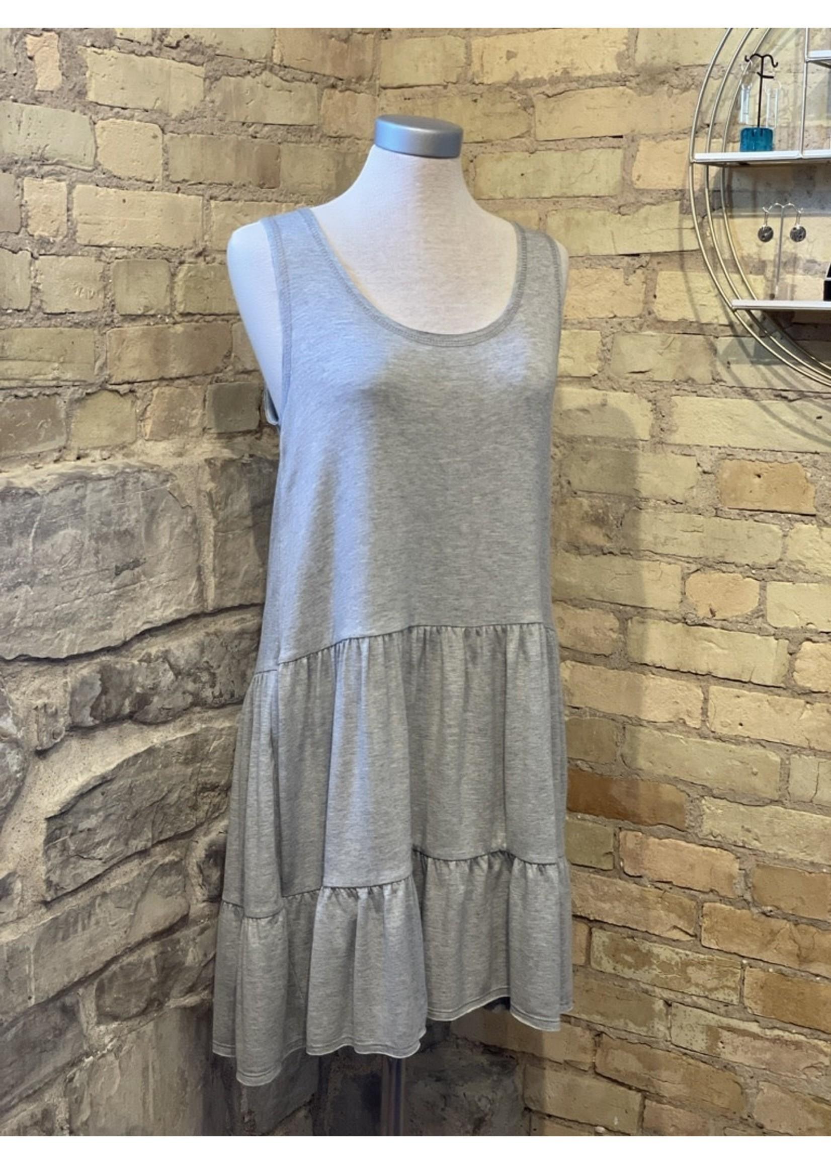Cloudwalk Reverse Stitch Tiered Mini Dress