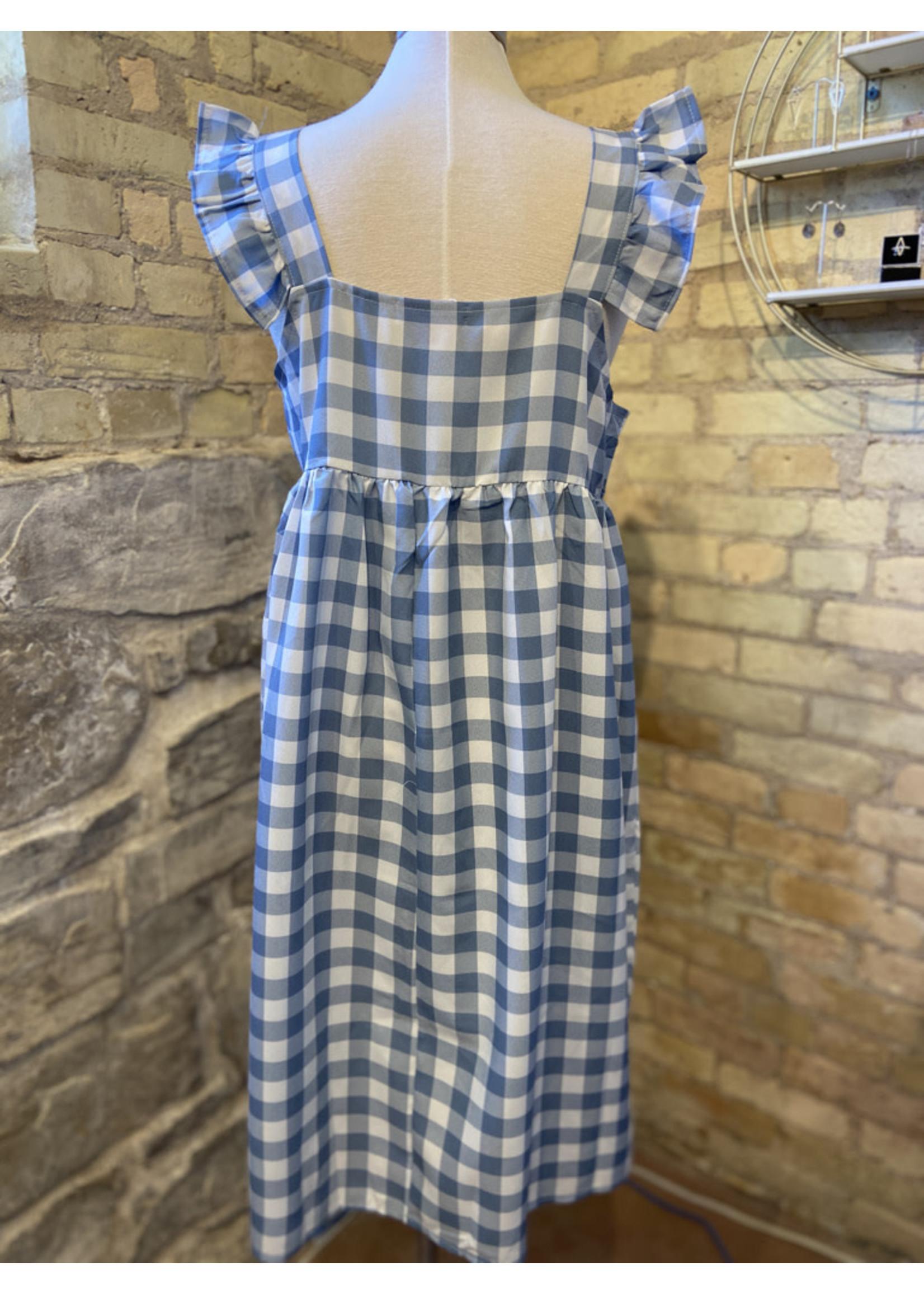 Esley Plaid Baby Doll Dress